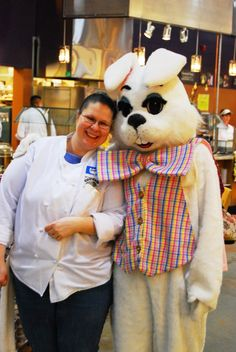Hanging with the Easter Bunny at Issaquah PCC!