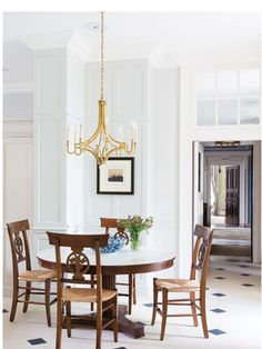 Dining Room, Dining Table, Visual Comfort, Breakfast Nook, Mykonos, House, Chandeliers, Furniture, Lighting