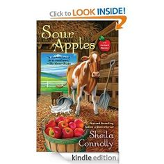 Sour Apples by Sheila Connolly  Here is my review:   http://www.myshelf.com/mystery/12/sourapples.htm