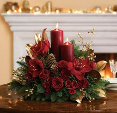 Candlelit Christmas Centerpiece by Teleflora, via Flickr