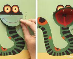 Serpiente bostezando Libros de animales para niños …