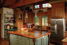 country kitchen island with lighting 10 Ideas And Tips For Choosing Custom Kitchen Islands Painting Kitchen Cabinets, Kitchen Paint, New Kitchen, Kitchen Decor, Kitchen Ideas, Wood Cabinets, Kitchen Layout, Wall Cupboards, Maple Cabinets