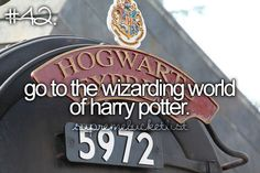 go to the wizarding world of harry potter.