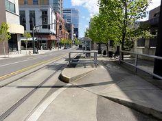 Bike Lane By-pass at Streetcar Stop, Portland OR