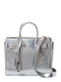 71469f18a5 Nano Metallic Leather Satchel by Saint Laurent Paris at Gilt Punk Fashion
