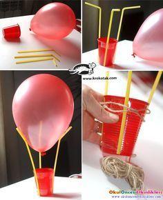uçan balon yapalım Deney fen