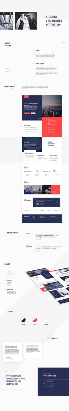 Axiom Corporate Website on Behance