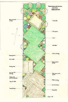 diagonal garden idea