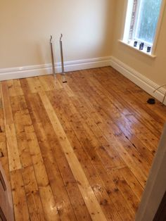 Osmo honey oil on restored pine floorboards