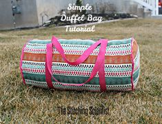 Simple Striped Duffle Bag Pattern
