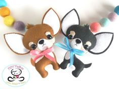 Sandy the Labrador puppy-PDF pattern-Cute lab dog-DIY Cute Chihuahua, Chihuahua Puppies, Chihuahuas, Dog Crafts, Felt Crafts, Cute Diy Projects, Sewing Projects, Pattern Cute, Pattern Ideas