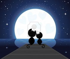 viendo la luna