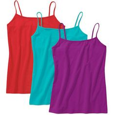 Faded Glory Women's Knit Cami 3 Pack