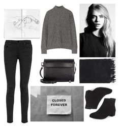 """""""Chelsea Smile."""" by arybo13 ❤ liked on Polyvore featuring Alexander Wang, T By Alexander Wang, Acne Studios, outfit, contestentry, suedeboots and stylestaple"""