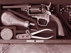 Wfargoboxsml f - Colt Pocket Percussion Revolvers - Wikipedia Revolvers, Percussion, Wild West, Hand Guns, War, Pocket, Firearms, Pistols, Revolver