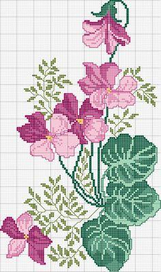 Schema punto croce Ciclamini