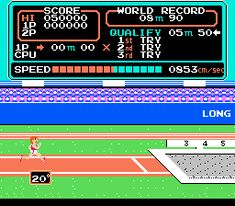 Track & Field for Nintendo NES - Sports game released in 1987 - The Video Games Museum has screenshots for this game