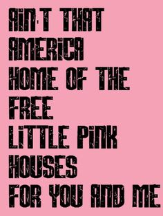 John Cougar Mellencamp - Pink Houses