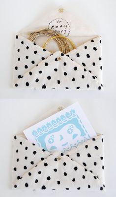 Roxy Marj Spotted Soft Envelope by romawinkel on Etsy