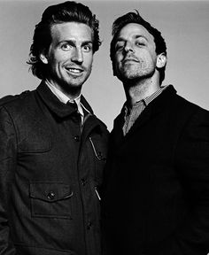 Seth Meyers and Josh Meyers- brothers. Celebrity Siblings, Celebrity Photos, Josh Meyers, Beautiful Men, Beautiful People, Ems Humor, Black And White Love, Handsome Actors, Dapper Men