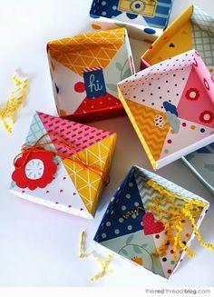 Wimke: Pinterest DIY Origami doosjes