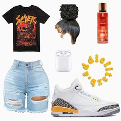 Summer Swag Outfits, Boujee Outfits, Jordan Outfits, Swag Outfits For Girls, Teenage Girl Outfits, Cute Swag Outfits, Cute Comfy Outfits, Girls Fashion Clothes, Teenager Outfits