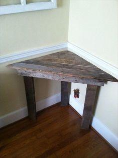 DIY wooden pallet corner desk ideas
