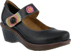 Women's L'Artiste by Spring Step Caliko Mary Jane - Gray Multi Leather with FREE Shipping