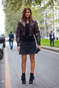 Christine Centenera takes her leather bomber cropped.   - HarpersBAZAAR.com