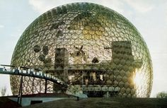 Buckminster Fuller, US Pavillion für die Weltausstellung in Montreal, 1967 Expo 67 Montreal, Montreal Ville, Montreal Quebec, Tales Of Tomorrow, Richard Buckminster Fuller, Architecture Cool, Barbican, Geodesic Dome, Parcs