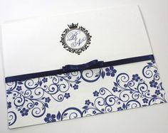 convite-dual-azul-marinho-laco-chanel Iris, Branding, Inspiration, Wedding, Wedding Things, Dream Wedding, Marriage Invitation Card, Navy Gray Wedding, Invitations