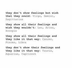 they don't show feelings but wish that they could