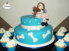 Cake Menina e cachorrinho