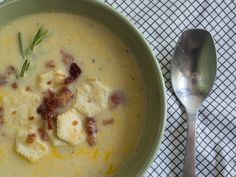 Cauliflower Chowder 15 MINUTES ACTIVE; 1-2 HOURS INACTIVE TO PREPARE, SERVES 8  INGREDIENTS  1 head cauliflower, cut into florets 4-6 slices bacon, optional, cooked and crumbled 3 cloves garlic, minced 2 stalks celery, chopped 1 yellow onion, finely chopped 4 cups chicken broth 2 cups sharp cheddar cheese, grated, divided 1/2 cup heavy cream 1 bay leaf 1/2 teaspoon dried thyme 1/2 teaspoon rosemary, minced Kosher salt and freshly ground pepper, to taste Fresh chives, minced, garnish Oyster…