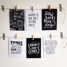 Cards by me #lettering #typography #handlettering #blackwhite #paperfuel