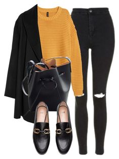 A fashion look from February 2018 featuring yellow sweater, cashmere coat and skinny jeans. Browse and shop related looks. Edgy Outfits, Classy Outfits, Mom Outfits, Fashion Outfits, Fall Winter Outfits, Autumn Winter Fashion, Workwear Fashion, College Outfits, Everyday Outfits