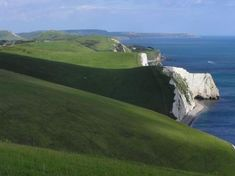 Dorset Coast, England. Look at all that green. I'd love to roll on that sweet grass.