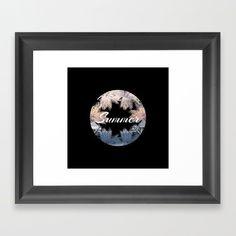 Summer Beach Palm Framed Prints by Lisaliza | Society6.  #Framedprints #Homedecor #Gifts #Framedprints #Onwall #Wallart   #Modern #Classyhomedecor #presents #Buyart #Art #Framedprintsart #Lisaliza  #Typography  #Beach #Summer #Relax #society6