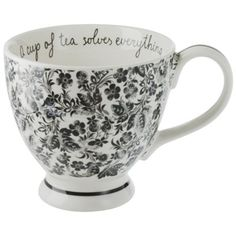 """A Cup of Tea Solves Everything"" Teacup.  Want!!"