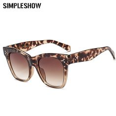 Women Vintage Square Sun Glasses