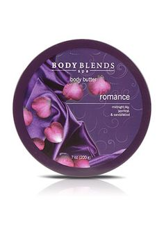 Body Blends Body Butter - Romance. Hydrate and fortify skin in seconds. Get added protection and super hydration with this rich, thick crème. Infused with omega 6, vitamins A and E, and oleic and linoleic essential fatty acids.