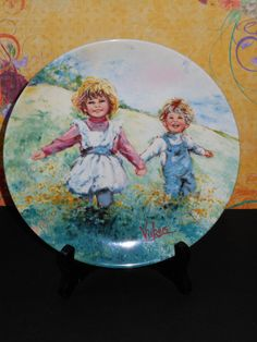 Vintage Playtime Collectors Plate from by hobbiesoddsnends on Etsy, $15.99