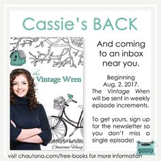 Get your FREE installments of The Vintage Wren sent directly to your email each week.