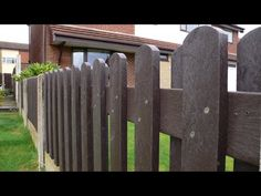 Recycled Mixed Plastic FENCING PALES 100 x 25 Round Head