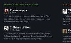Typography sample: Freight Sans Pro and Abril Text on letterboxd.com (posted by @Mike Stenhouse)