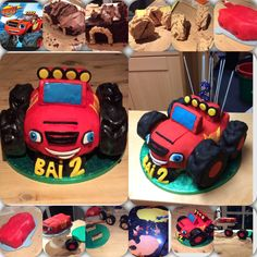 Blaze and the monster machines cake construction