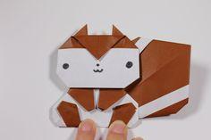 簡単折り紙 リス