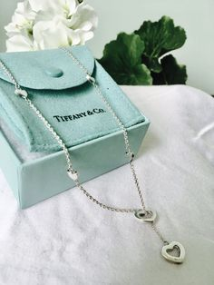 Gift For Her Limited Edition TIFFANY & CO. Heart Lariat Necklace Sterling Silver  | eBay