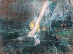 Giovanni Boldini - Braccio con vaso di fiori