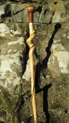 Twisted Walking Cane - Beautifully Handcrafted, Natural Twist, Hard Wood. Vine Inlay. Custom Length. Custom Foot Options by WhitehillCanes, $145.00